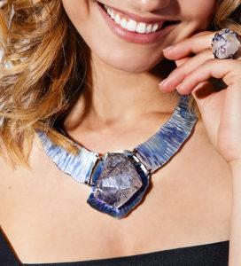 dubhe – tourmalinated quartz necklace