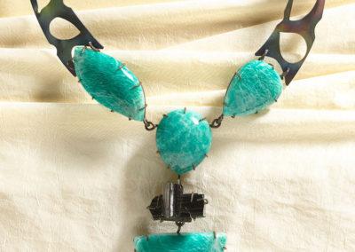 dubhe - amazonite and black tourmaline necklace pic3