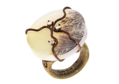 round musk agate ring