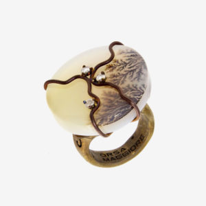 dubhe - round musk agate ring pic2