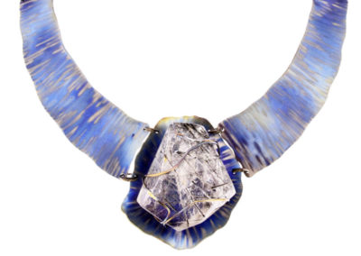 dubhe - tourmalinated quartz necklace pic1