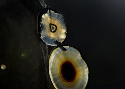 merak - agate necklace with titanium section pic4