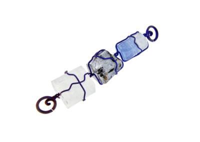 merak - aquamarine pendant with finish titanium pic1