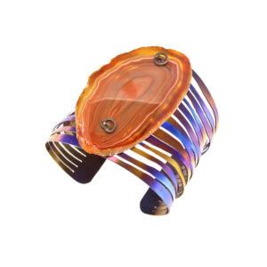 merak - banded agate bracelet pic1