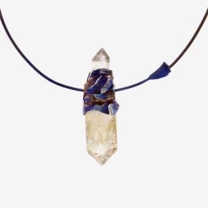merak - biterminated hyaline quartz necklace pic2