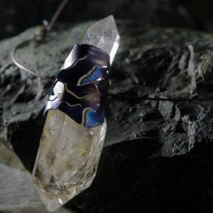 merak - biterminated hyaline quartz necklace pic3