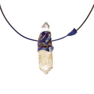merak - biterminated hyaline quartz necklace pic1