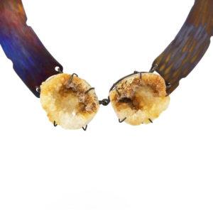 merak - citrine geode necklace pic1