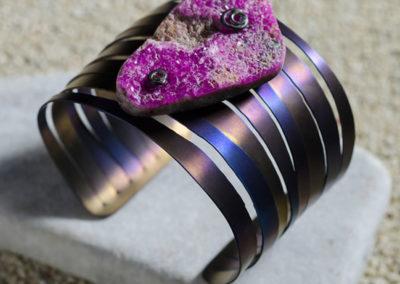 merak - cobaltian calcite bracelet golden blue finish pic3