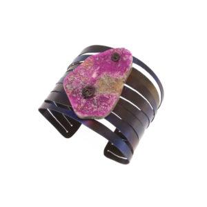 merak - cobaltian calcite bracelet golden blue finish pic1