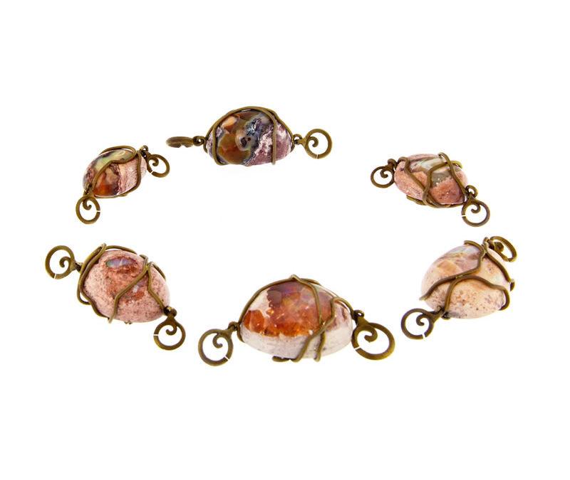 fire opal pendants