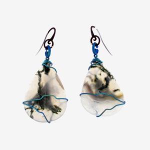 merak - musk agate earrings ovals pic2
