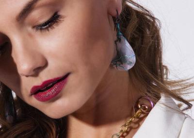 merak - musk agate earrings ovals pic3