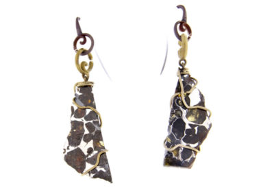 merak - pallasite earrings pic1
