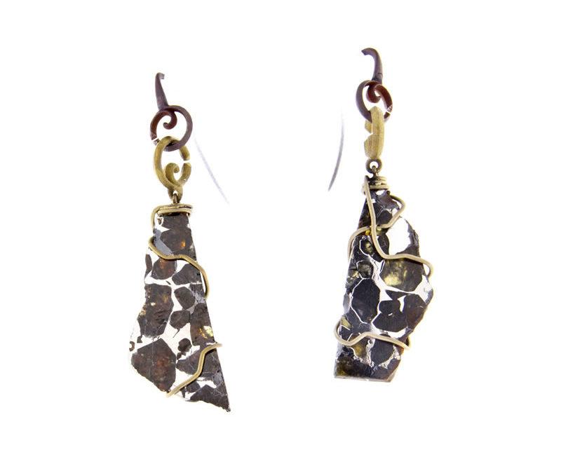pallasite earrings