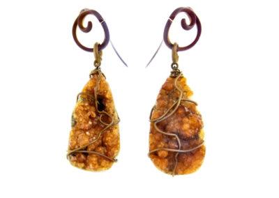 merak - spessartite earrings pic1
