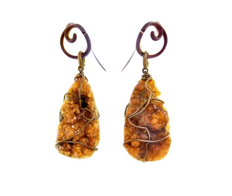 spessartite earrings
