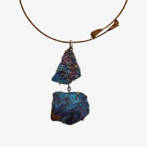 mizar - chalcopyrite necklace pic2
