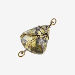 mizar - shaped chalopyrite pendant pic2