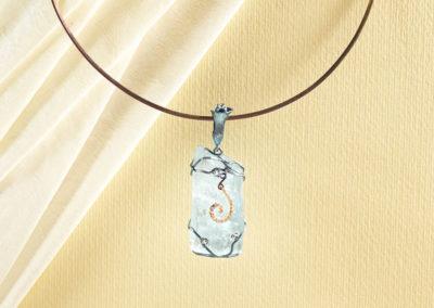dubhe - aquamarine pendant blue finish pic3