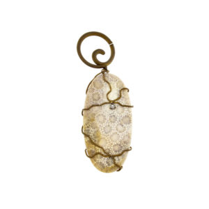 dubhe - fossil white coral pendant pic1