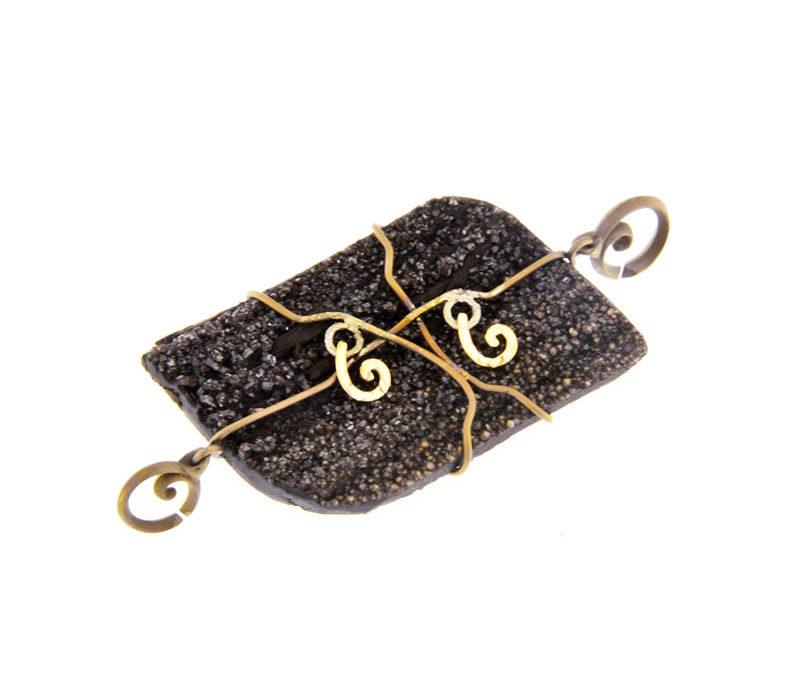 fossil wood pendant