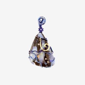 dubhe - matrix opal pendant pic2