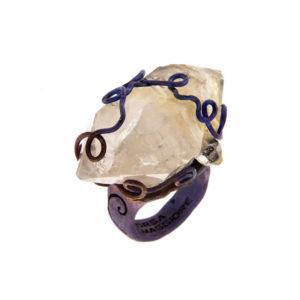merak - biterminated hyaline quartz ring pic1