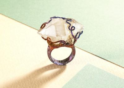 merak - biterminated hyaline quartz ring pic3