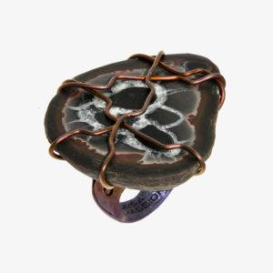 merak - black septarian ring pic2