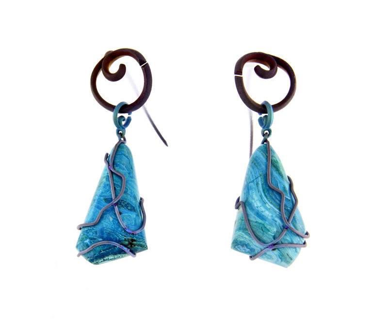 chrisocolla earrings