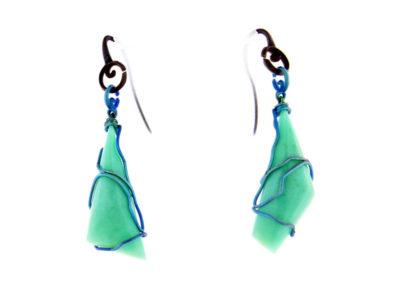 merak - chrysoprase earrings pic1