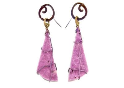 cobaltian calcite earrings