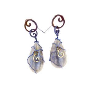 merak - labradorite earrings pic1