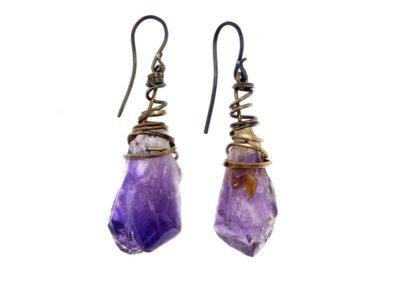 mizar - amethysts earrings pic1