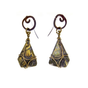 mizar - chalcopyrite earrings pic1