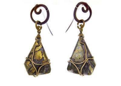 chalcopyrite earrings