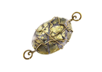 mizar-  oval chalcopyrite pendant pic1
