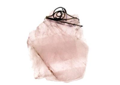 mizar - pink quartz pendant pic1