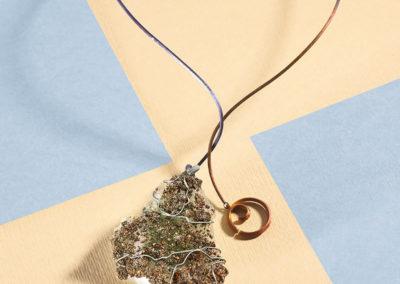 mizar - pyrite on green quartz pendant pic4